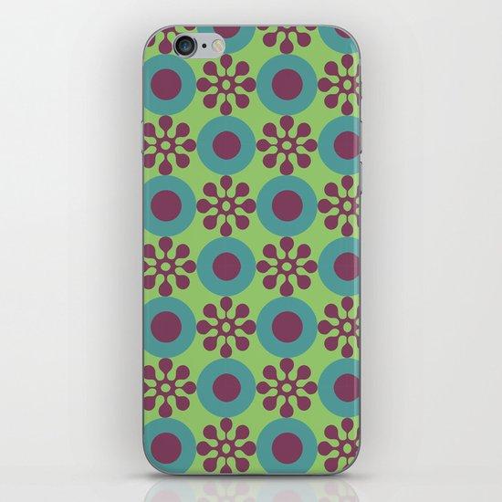 Retro Modern Flower Power iPhone & iPod Skin