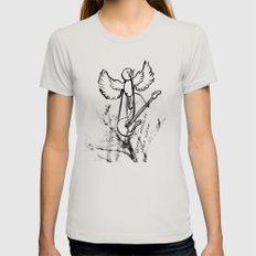 ROCKIN ROBIN Womens Fitted Tee Silver SMALL