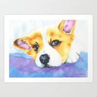 Corgi Love Art Print