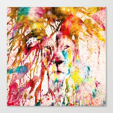 Wild Lion Sketch Abstrac… Canvas Print