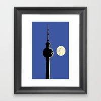Berlin Moon Framed Art Print