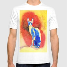 Sphynx Cat #3 White SMALL Mens Fitted Tee