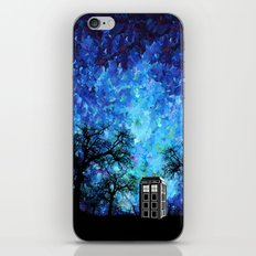 Lonely Tardis Doctor who Art painting iPhone 4 4s 5 5c 6, pillow case, mugs and tshirt iPhone & iPod Skin
