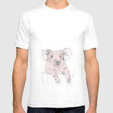 Piggywig Mens Fitted Tee White SMALL