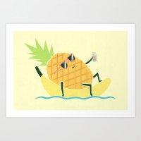 Summer Chillin Art Print
