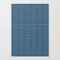 blue hex Canvas Print