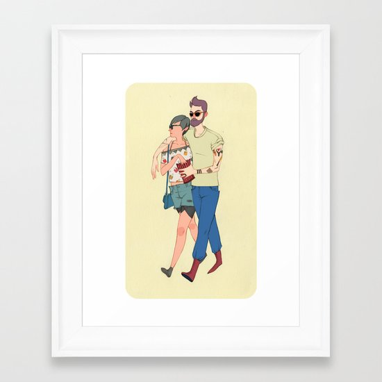 Vanitas Couple Framed Art Print