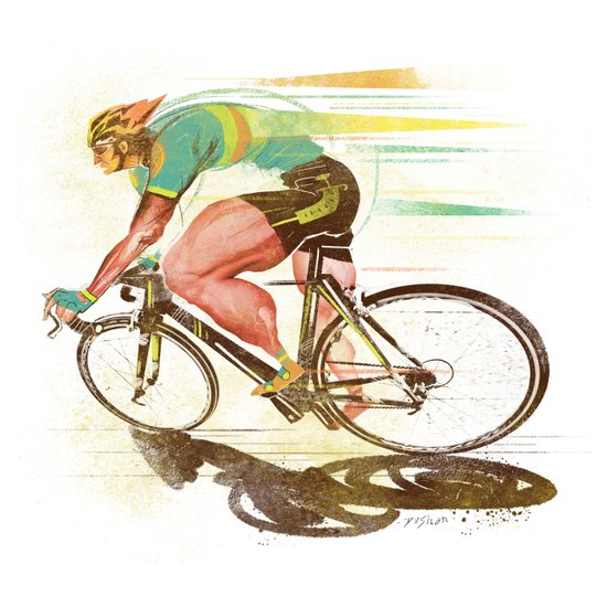The Sprinter, Cycling Edition Canvas Print