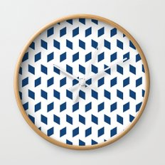 rhombus bomb in monaco blue Wall Clock