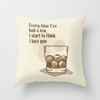 Scotch Love by RonkyTonk Throw Pillow