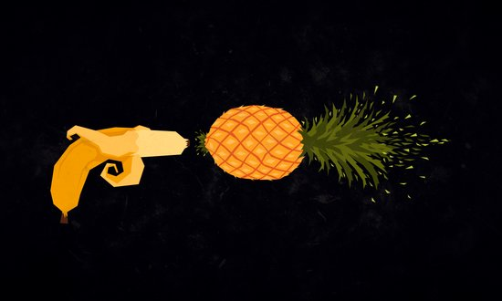 Who shot the pineapple? Art Print