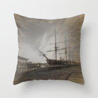 Warrior Sketch Throw Pillow