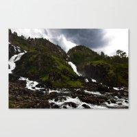 Norwegian Waterfalls Canvas Print