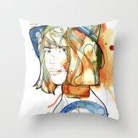 Portraits, Ann. Throw Pillow