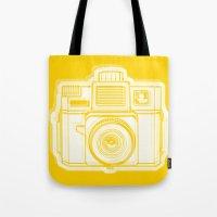 I Still Shoot Film Holga Logo - Reversed Yellow Tote Bag