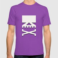 Skull Mens Fitted Tee Ultraviolet SMALL
