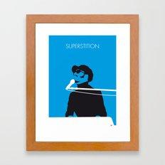 No039 MY STEVIE WONDER Minimal Music poster Framed Art Print