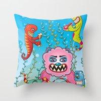 Flesh and Teeth's Throw Pillow