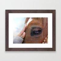 Horse healer Framed Art Print