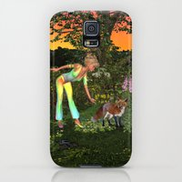 Galaxy S5 Cases featuring Lady Elf Red Fox by apgme