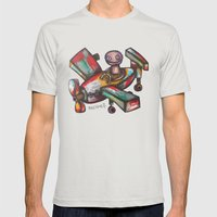 Let's Fly? Mens Fitted Tee Silver SMALL