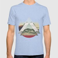 Perceptions Landscapes Mens Fitted Tee Tri-Blue SMALL