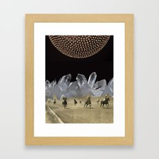Beneath a Thousand Moons - (Triptych) by Zabu Stewart Framed Art Print