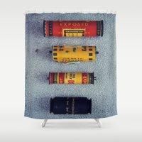 Old Film Rolls Shower Curtain