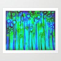 WINTER GARDEN -Bright Bl… Art Print
