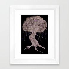 Girl In Tree Framed Art Print