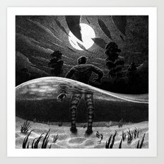 Drawlloween 2014: Creature from the Black Lagoon Art Print