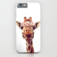 Flower crown giraffe iPhone 6 Slim Case