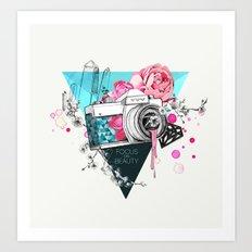 Focus on beauty Art Print