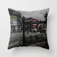 Piccadilly Circus London Throw Pillow