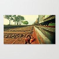 Train Track Canvas Print