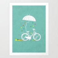 I Want To Ride My Bike ! Art Print