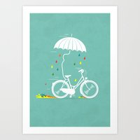 I want to ride my bike ! Art Print