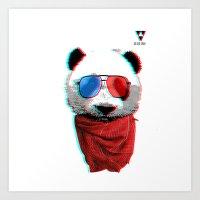 3D Panda Art Print