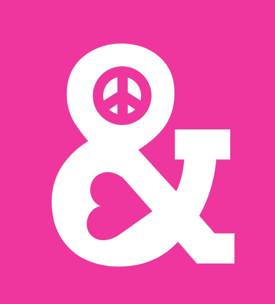 Peace and Love (pink edition) Canvas Print