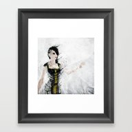 Framed Art Print featuring Angel by Melissa Smith