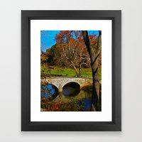 Burnside Bridge Antietam Battlefield Framed Art Print