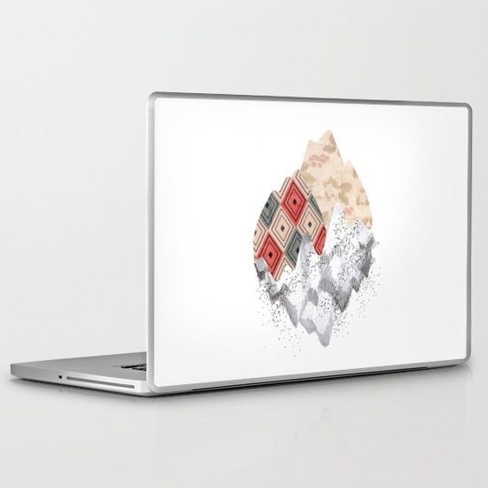 montañas collage Laptop & iPad Skin
