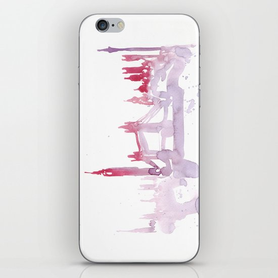 Watercolor landscape illustration_London iPhone & iPod Skin