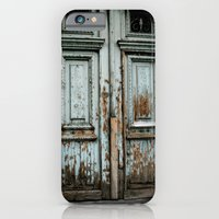 iPhone & iPod Case featuring Turquoise Door by Dave Houldershaw