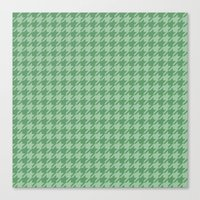 Mint Houndstooth Canvas Print