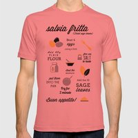 Salvia fritta Mens Fitted Tee Pomegranate SMALL