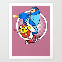 Jump And Shoot Time!! Art Print