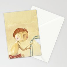 Clovis goes off the boat Stationery Cards