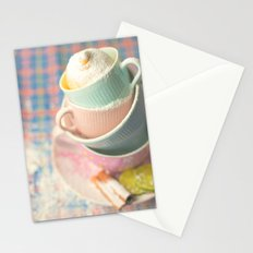 Teacup tower Stationery Cards