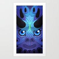 Lady Grey Art Print